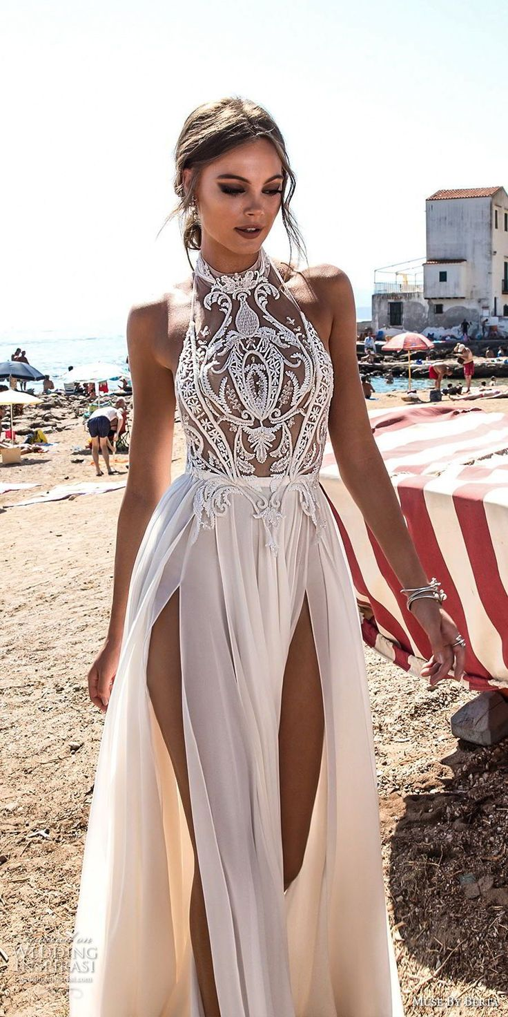 Wedding dress high neck open back   best My Dream Wedding images on Pinterest  Homecoming dresses