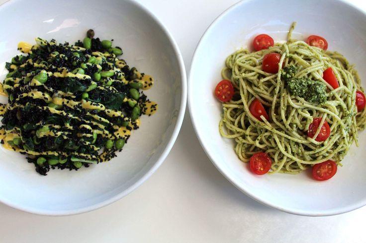 Pesto pasta & tai chi bowl