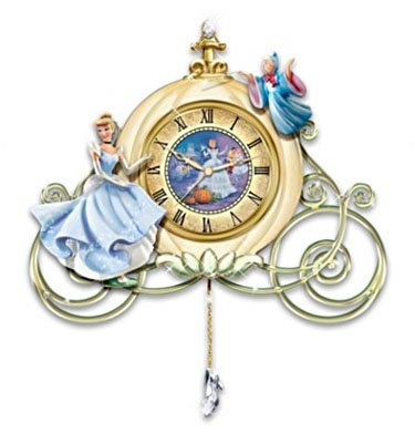 Cinderella Sculpted Wall Clock Midnight 39 S Spell By The Bradford Exchange Amazon Home Kitchen