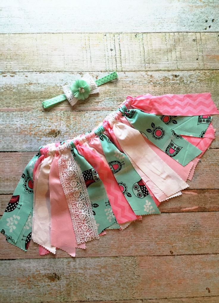 Baby Skirt - Mint and Coral Rag Skirt, Owl Fabric Skirt, Baby Rag Skirt, Toddler Tutu Skirt, Cottage Chic Skirt, Fall Skirt, Autumn Skirt by Simpletreeboutique on Etsy https://www.etsy.com/listing/250015809/baby-skirt-mint-and-coral-rag-skirt-owl