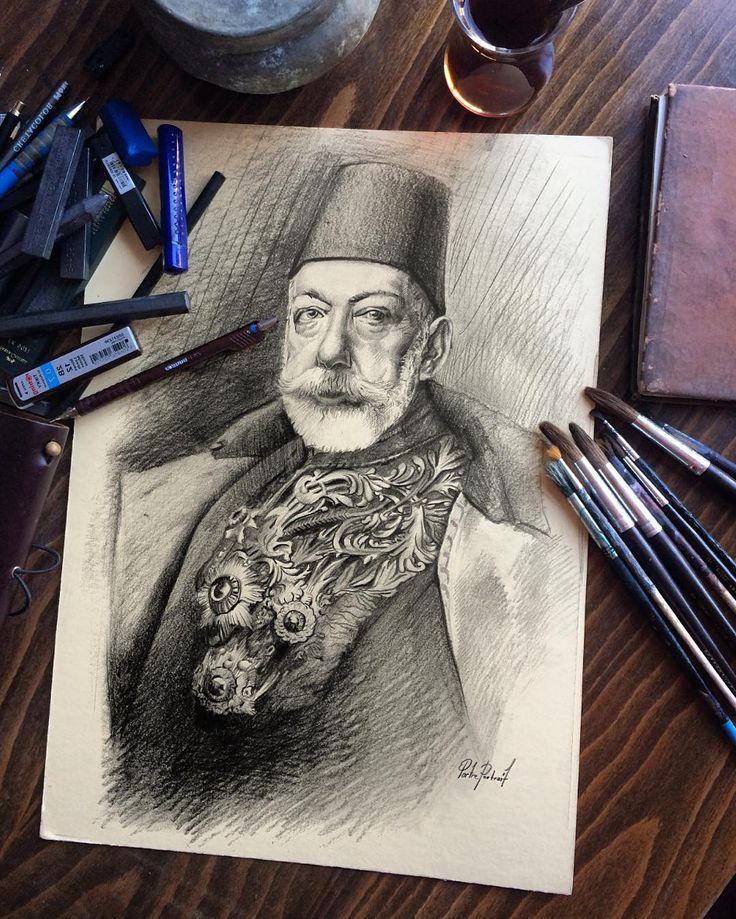 """Portre Portrait (Sultan Reşat)""  #artwork #fineart #draw #drawing #portrait #portraitart #portre #artdrawing #artofdrawing #charcoal #charcoalart #sketch #karakalem #sketchbook #ottoman #osmanlı #padişah"