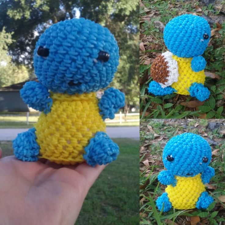Squirturtle Pokémon by candcloomboyz. Tutorial by Looming with Cheryl