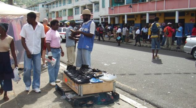 Castries market in February