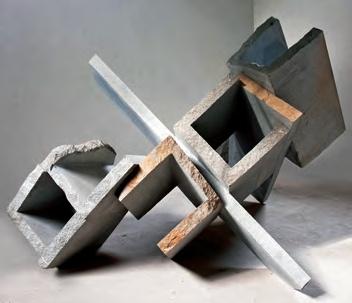 """""""Cuando el silencio se hace piedra"""" es el trabajo de Vicente Gajardo inspirado en el terremoto que afectó a Chile en 2010. El artista fue premiado en la categoría Escultura."""