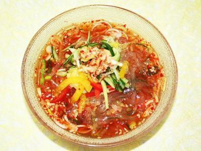 韓国料理レシピ 韓国味ところてん冷スープ                                                                                                                                                                                 もっと見る
