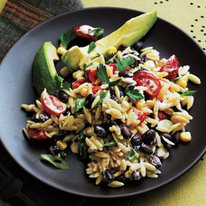 Orzo, Corn, Tomato, and Black Bean Salad with Spicy Buttermilk Dressing