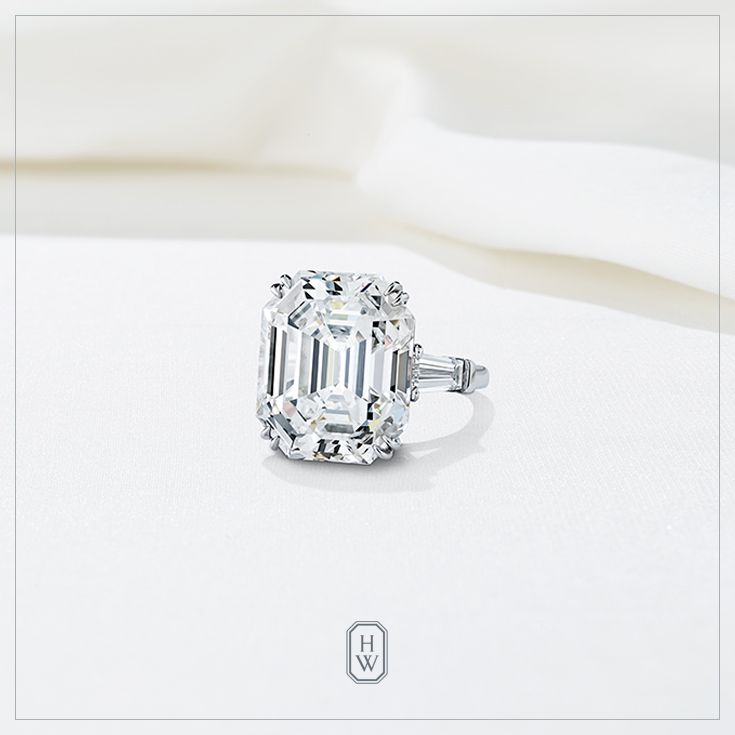 Extraordinary Emerald-cut Engagement Ring by Harry Winston