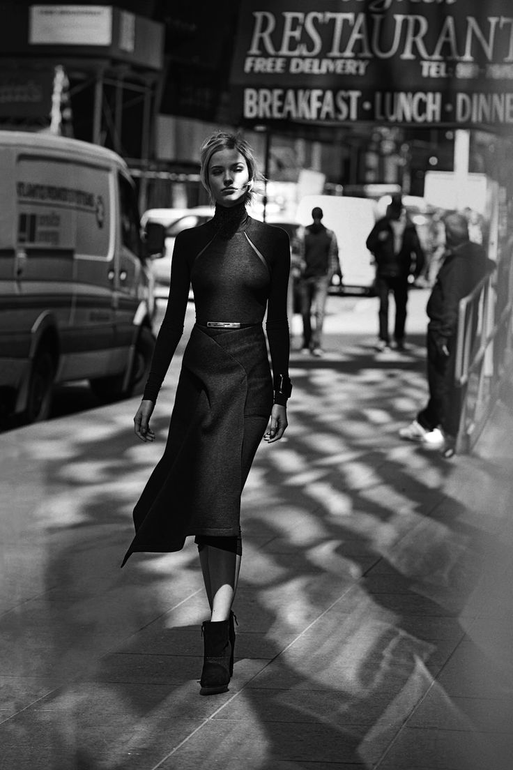 """ Sasha Luss in ""Gray Scale"" for Neiman Marcus, September 2014 Photographed by: Peter Lindbergh """