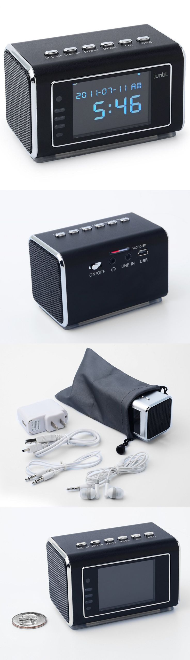 Surveillance Gadgets: Jumbl Mini Hidden Spy Camera Radio Clock Wih Motion Detection And Infrared Night BUY IT NOW ONLY: $72.99