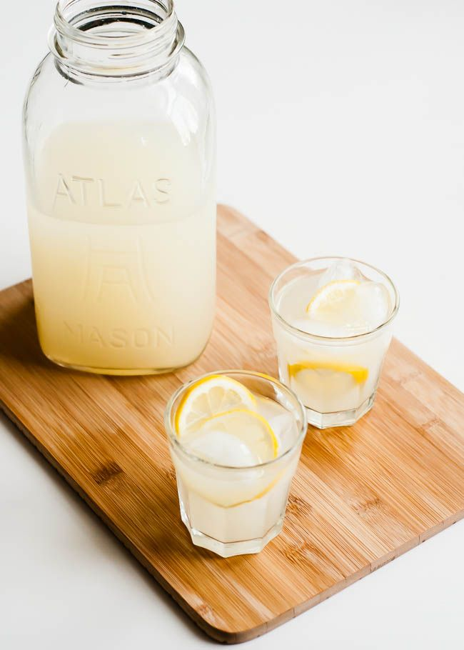 Probiotic Lemonade  . 6½ cups filtered water ½ cup fresh squeezed organic lemon juice ½ cup organic evaporated cane juice (or sucanat) ½ cup liquid whey