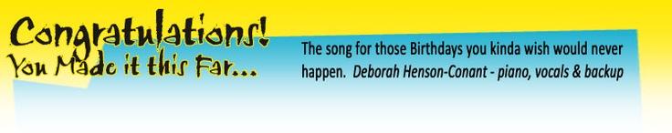 My favorite birthday song!  Congratulations Card Product Info - Deborah Henson-Conant / HipHarp.com