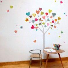 Sticker arbre à coeurs - Série-Golo