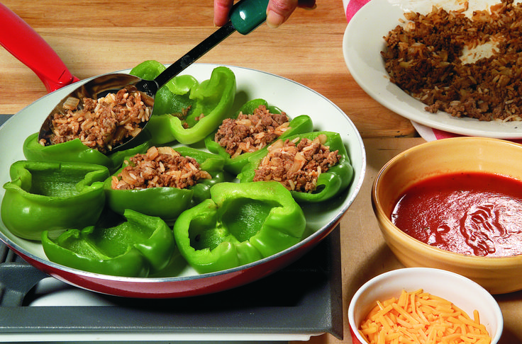 Stove-Top Stuffed Peppers was on the menu every week at Grandma's house, Mother says.