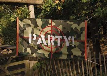 Om op te hangen tijdens een camouflage themafeestje