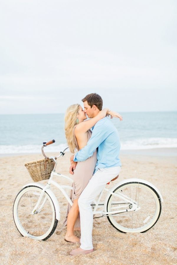 Romantic St. Augustine Engagement on the Beach | Brooke Images Photography on @acoastalbride via @aislesociety