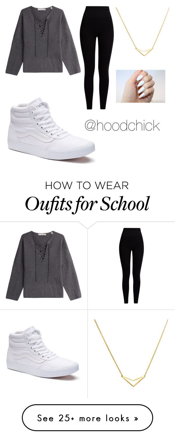 """School outfit #41"" by hoodchick on Polyvore featuring Vince, Pepper & Mayne, Vans and Dutch Basics"