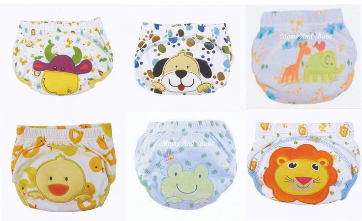 New 6 Pack Unisex Potty Training Pants New Designs Cotton Polyester