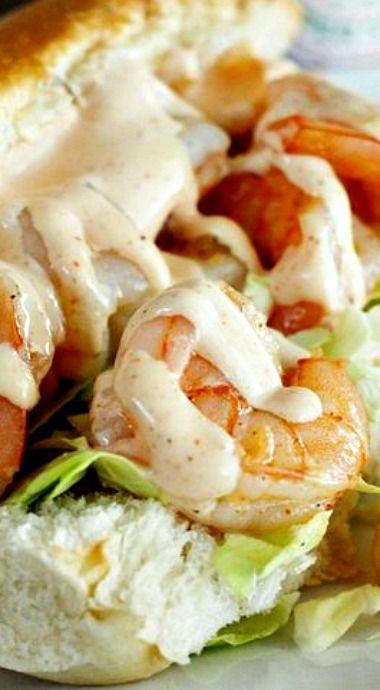 Shrimp Po Boys with Creamy Cajun Sauce