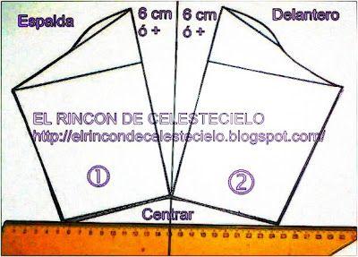 El Rincon De Celestecielo: Patrones para otros tipos de mangas cortas fruncidas