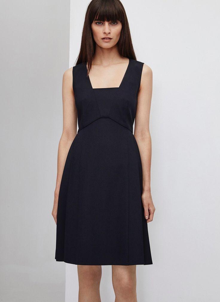Vestido evasé recto - Vestidos | Adolfo Dominguez shop online