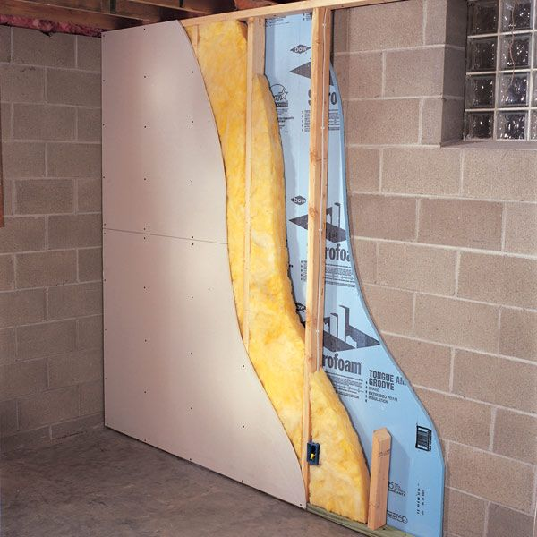How to finish a basement wall the right way... THIS is an easy photo to figure out!