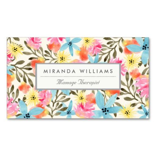 Elegant visit card with a cute floral pattern. Rural illustration with an exotic touch. Love it. #visitcard #businesscard #callingcard