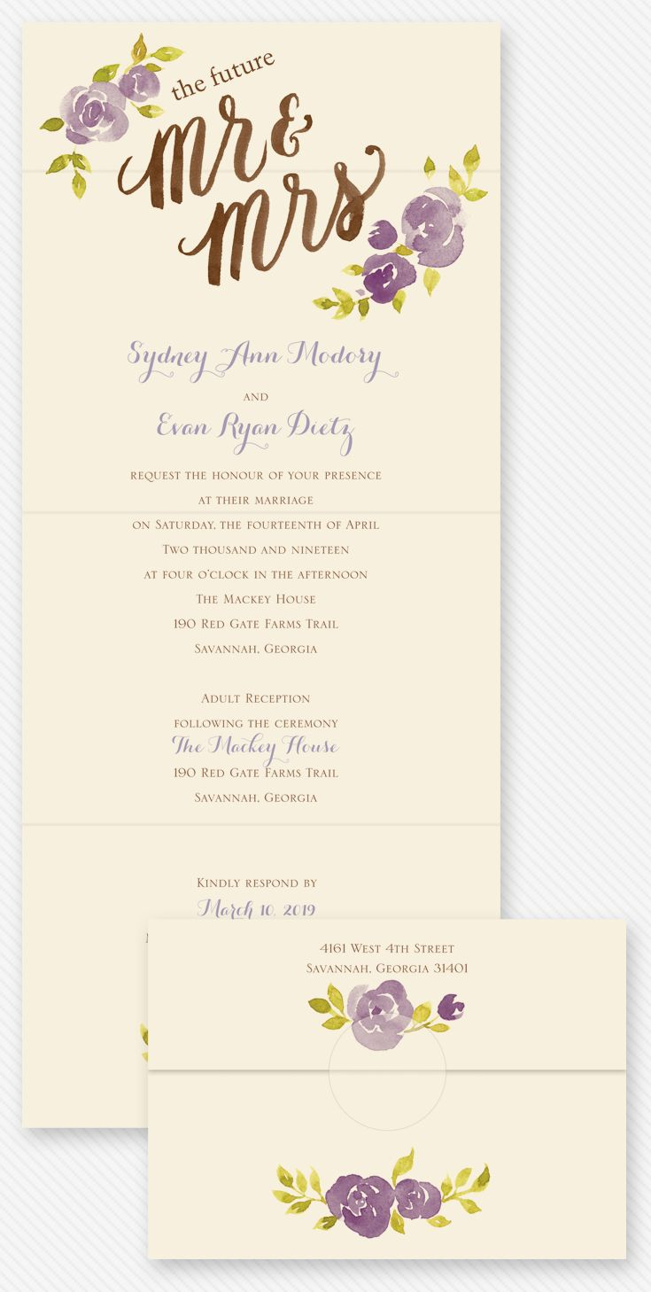 These future Mr. & Mrs. invites come in any color! Learn how to save $ with these seal and send invitations from @annsbargains.