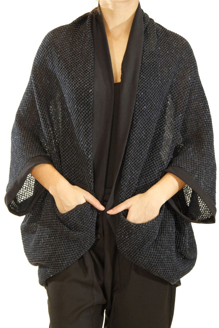 Knitted cardigan Short sleeves Cotton lining One size Loose fit by Ofilia's #cardigan #knitwear #greek4chic