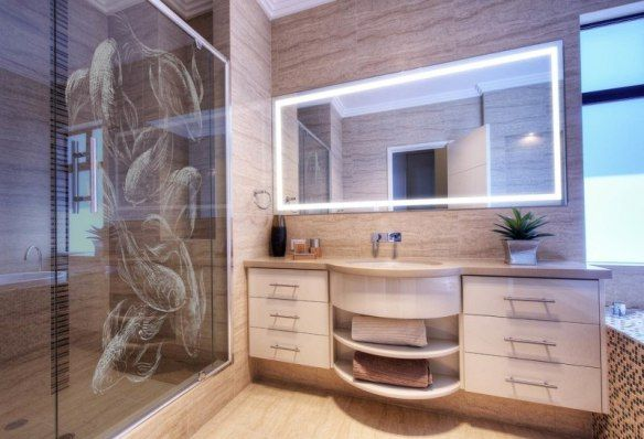 Decoration-zen-bathroom-glass-walls-dragon-motifs