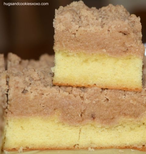 Check out Shortcut Crumb Cake. It's so easy to make ...