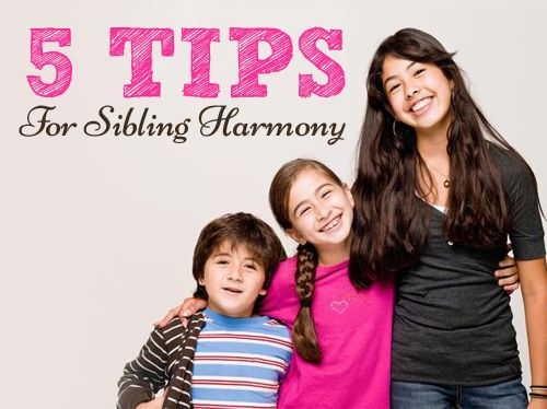Great tips for sibling harmony