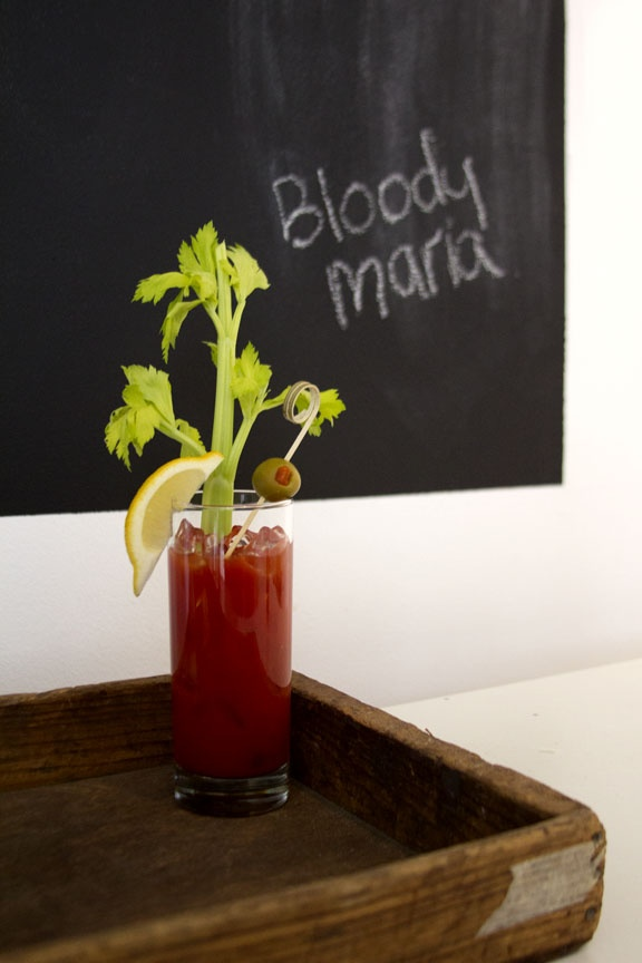 Patrón Bloody Maria with add your own garnishes. #brunch #patron #cocktail #patrontequila #entertaining #drinks #bloodymary