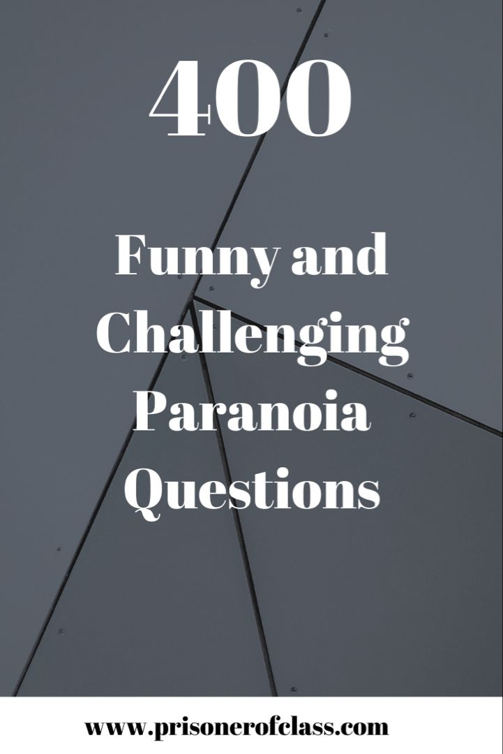 Party game questions paranoia 1765 Best