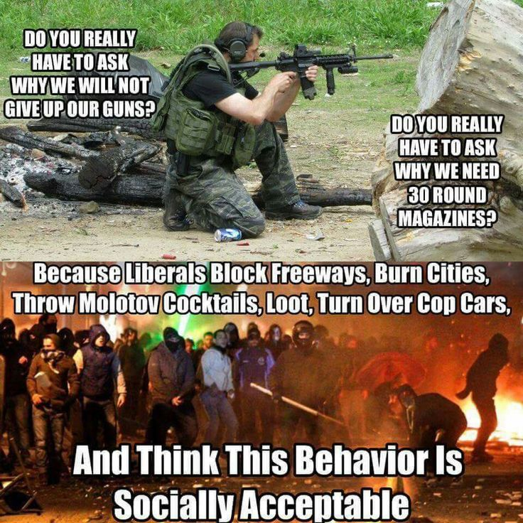 Not acceptable! Rioting and Looting is not acceptable, that's why we bear arms, to protect ourselves.