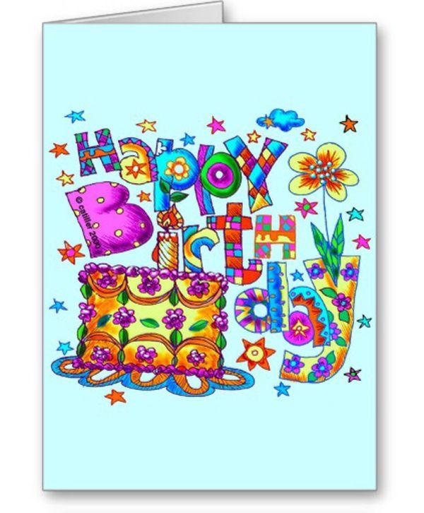 Happy Birthday Cake Greeting Cards