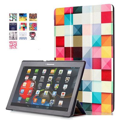 Tab 2 A10-70 Colorful Print Leather Case Cover for Lenovo Tab 2 a10-30 X30F X30L Tablet 10.1 inch Magnet Case tb2-x30l x30 +film