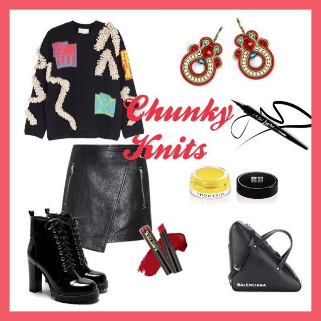 This season mix chunky knits with leather and throw in a pair of Dori earrings for a snugly feeling with an edgy look....  #doricsengeri #leather #chunkyknits #fallknits #hoopearrings #designerjewerly #gotoearrings