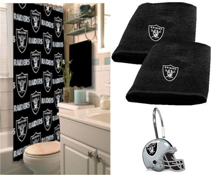 best Oakland Raiders images on Pinterest. Raiders Bathroom Set   Bathroom Ideas Gallery