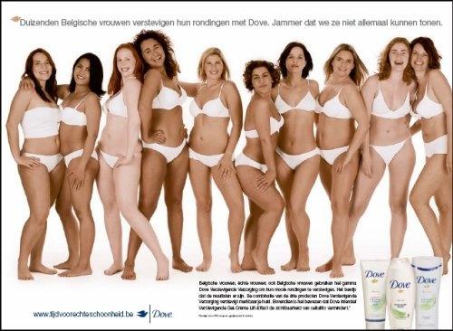 Geen te dunne meiden meer, maar mooie realistische dames voor de Dove reclame