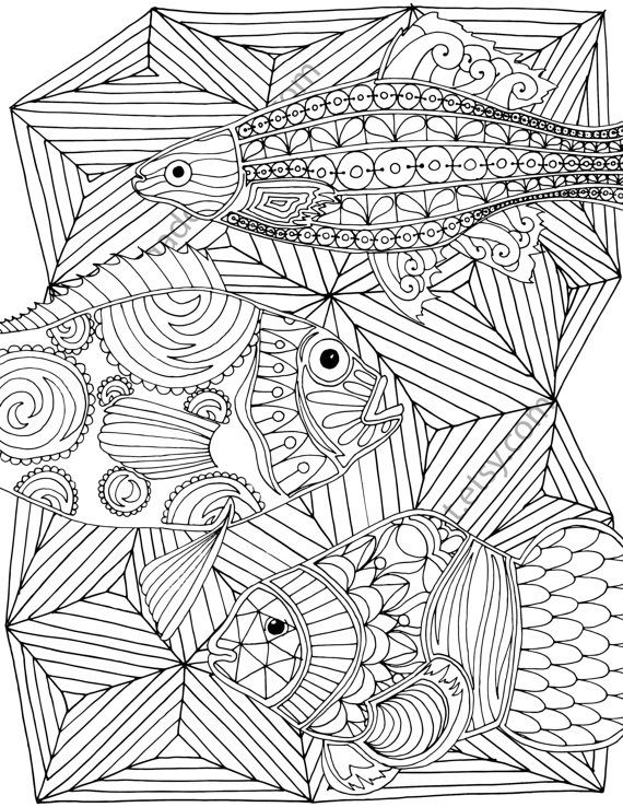 738 best adult coloring images on pinterest coloring for Adult coloring pages nautical