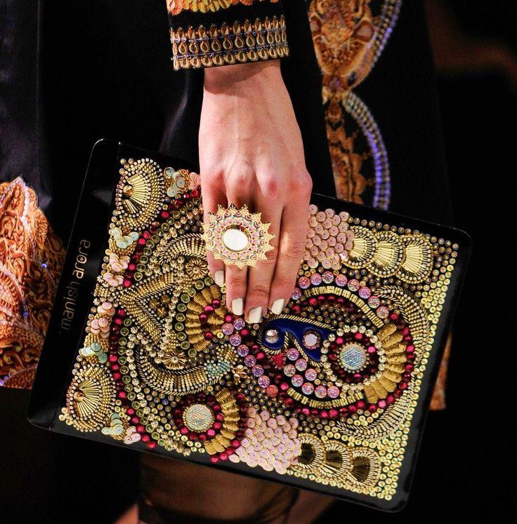 Manish Arora Spring 2013 Ipad Cases Beautiful detail #embroideryinspiration