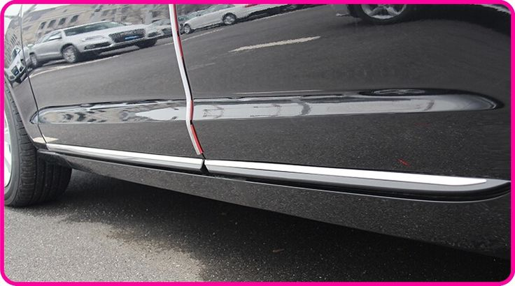 89.98$  Watch now - http://alisak.worldwells.pw/go.php?t=32351934373 - High quality stailness steel 4pcs side door trim, door streamer,door protection bar for Audi A6L(2012-2015)