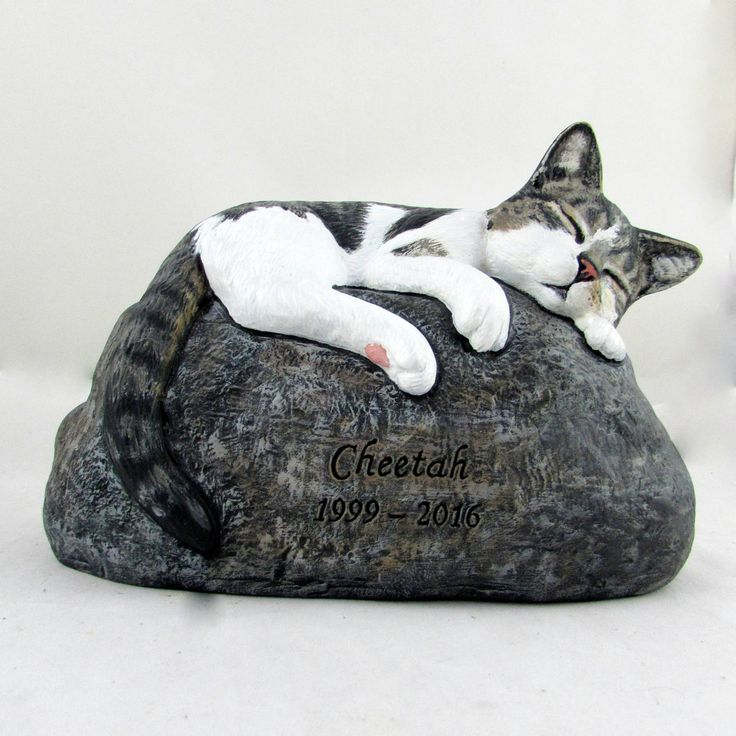 Ceramic Engraved/Customized Painted Cat Grave Marker - hand made, customized, indoor or outdoor by aarceramics on Etsy