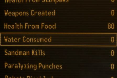 Water Consumed Stat Fix at Fallout New Vegas - mods and community