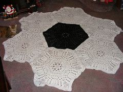 Ravelry: Shells and Loops Large Hexagon Shaped 6-Sided Motif pattern by Sandi Marshall