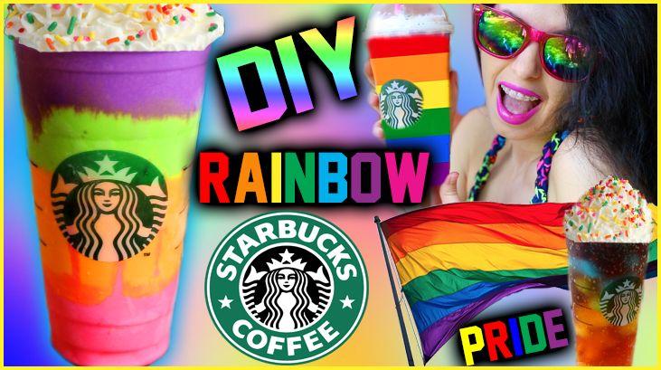 New vid on #GlitterForever17! DIY Rainbow @Starbucks Inspired Drinks! | Gay Pride Inspired! http://youtu.be/vM1V6oKjga4 #lovewon
