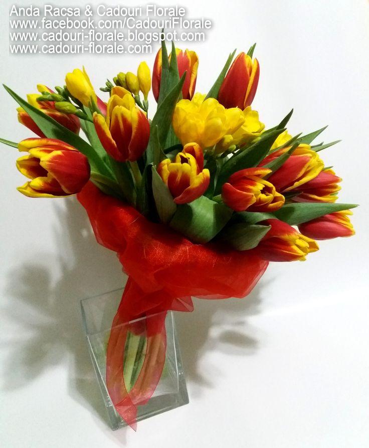 Buchet de lalele! www.cadouri-florale.com, cadouri.florale@gmail.com