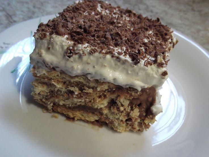 Olga's cuisine...και καλή σας όρεξη!!!: Μπισκοτένια τούρτα (χωρις αυγα)