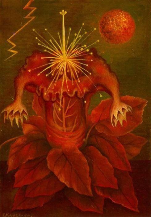 """""""blume des lebens"""", öl von Frida Kahlo (1907-1954, Mexico)"""