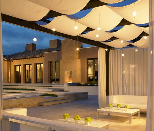 Canvas Canopy with Lighting - Creates brilliant outdoor entertaining area